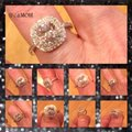 Other New 4CT Double Cushion Cut Square Cz & White Topaz Genuine White Gold Filled Ring 5, 6, 7, 8, 9 Image 3
