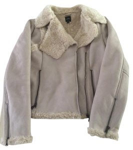 Express Faux Fur Lined Beige Jacket