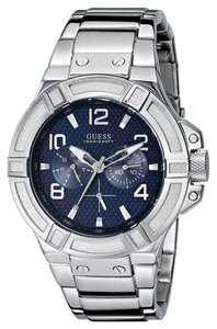 Guess Guess Men's Silver Analog Watch U0218G2