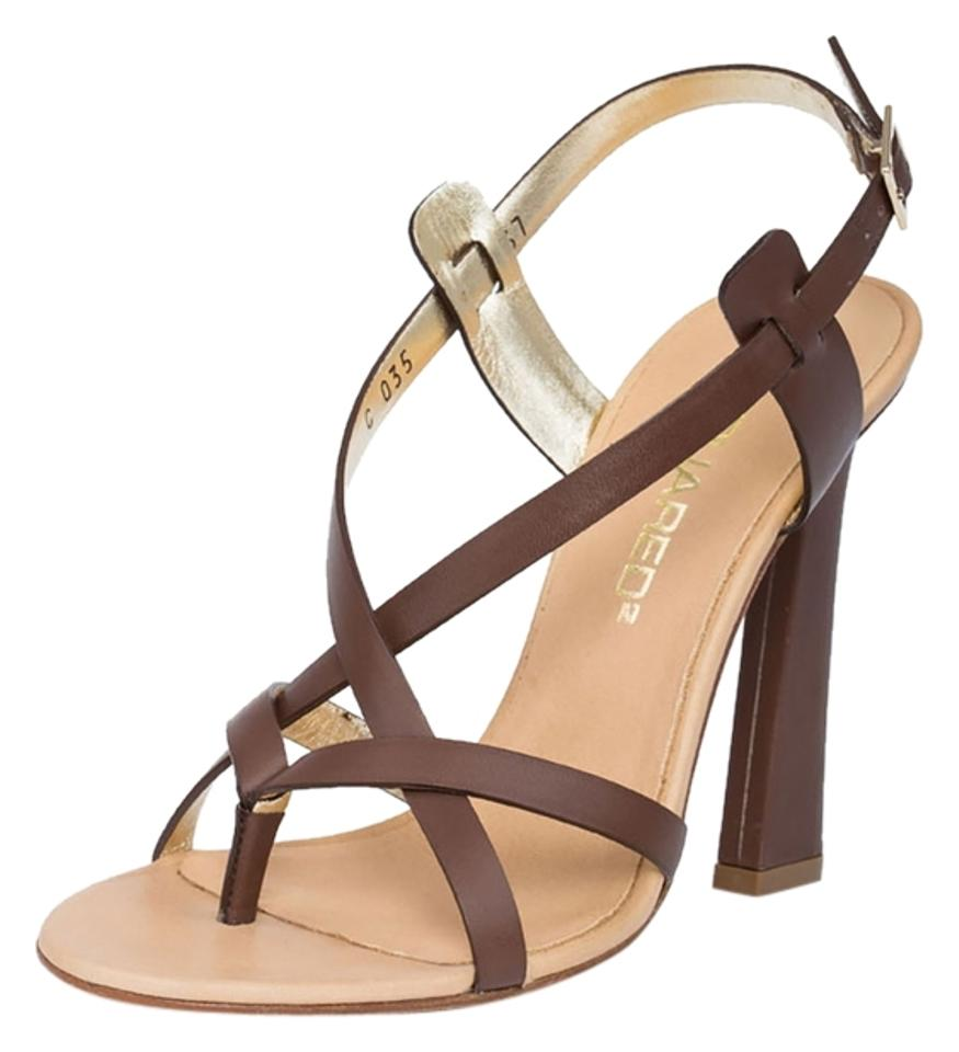 Dsquared2 Coffee Vitello Tacco/Heel Tacco/Heel Vitello 110 Sandals ee409c