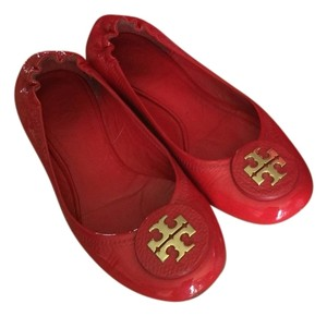 Tory Burch Patent Leather Red Flats