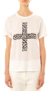 Thakoon Addition Short Sleeve Crewneck Cross Print T Shirt White