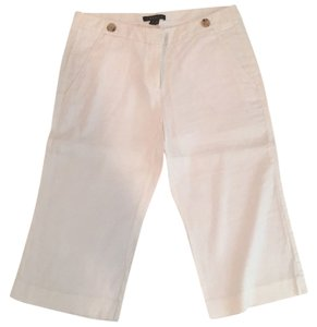 Theory Bermuda Shorts White linen