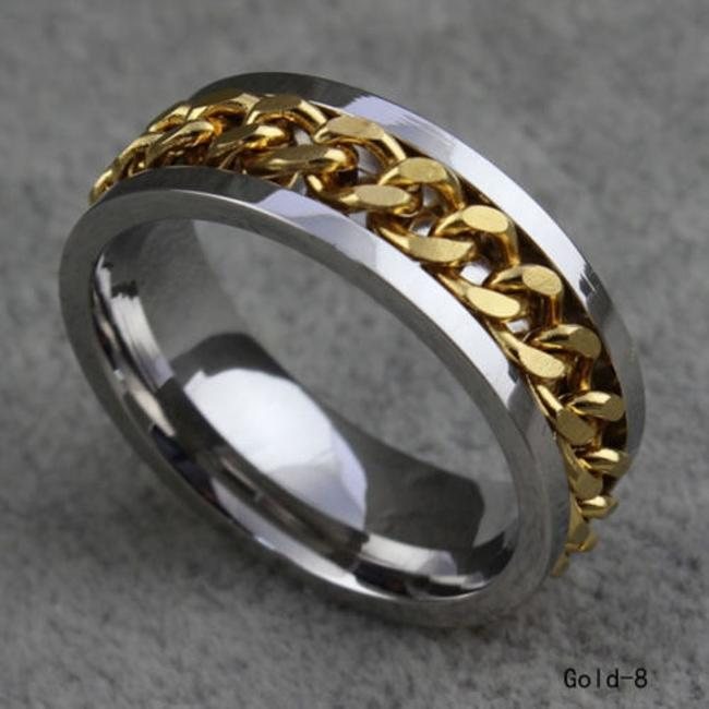 Item - Silver/Gold Stainless Steel Chain Unisex Free Shipping Men's Wedding Band