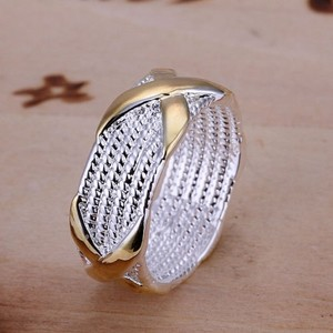Silver/Gold Bogo Free Kisses 2 Tone Mesh Free Shipping Ring