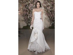 Oscar De La Renta 33e62 Silk Faille Wedding Dress