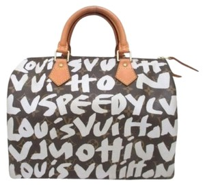 Louis Vuitton Speedy 30 Speedy Monogram Speedy Graffati Graffati 30 Satchel in brown