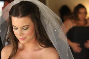 Other Jennifer Leigh Tulle Veil With Swarovski Crystal & Pearl Detail