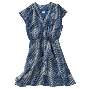 Converse short dress Blue Snakeskin Pattern V-neck Flowy on Tradesy