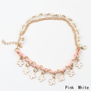 Cute Clover Pink White Gold Bracelet Free Shipping