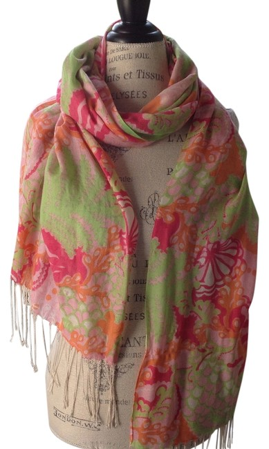 Item - Green Pink Orange Magenta and White Colorful With Scarf/Wrap