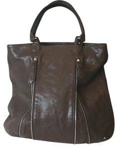 Lauren Merkin Tote in Brown Leather