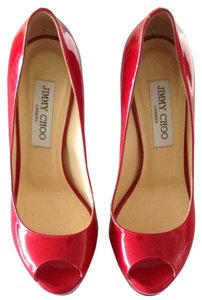 Jimmy Choo Red Patent Pumps