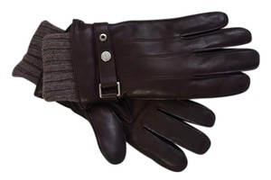 Coach COACH F83853 3 IN 1 Men's Leather Glove Brown Size M NWT Retail $ 188.00