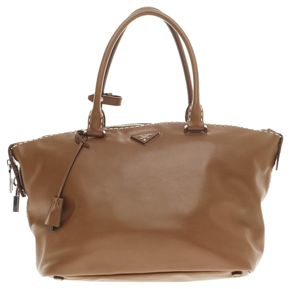 2d80fef0147736 ... where can i buy prada leather tote in caramel brown acf7c 8e931 ...