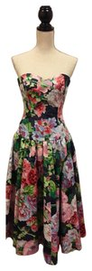 S.G. Gilbert short dress Multi Floral on Tradesy