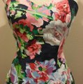 Multi Floral Mid-length Short Casual Dress Size 6 (S) Multi Floral Mid-length Short Casual Dress Size 6 (S) Image 2