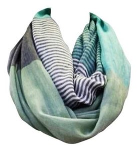 Wanted Striped Mint Infinity scarf