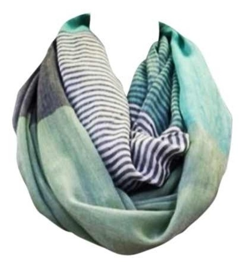 Preload https://item1.tradesy.com/images/wanted-mint-striped-infinity-scarfwrap-132070-0-0.jpg?width=440&height=440