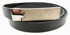Gucci Black Leather Belt, Gold Buckle, Size 32