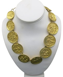 judith mullen Angel Necklace Gold plated COINS judith mullen