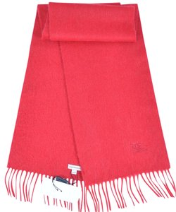 Burberry NEW BURBERRY CHILDREN'S 100% CASHMERE RED PRORSUM KNIGHT LOGO SCARF MUFFLER