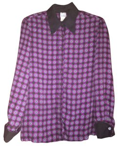 Loulou de la Falaise Button Down Shirt Black pink