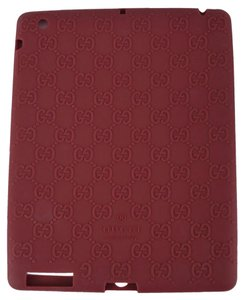 Gucci NEW Gucci 284589 Burgundy Red GG Guccissima Silicone Case for Ipad 2