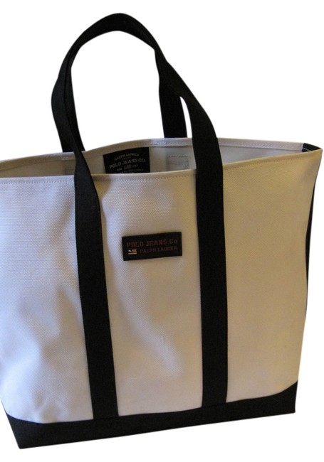 Item - Navy Blue & White Canvas Tote