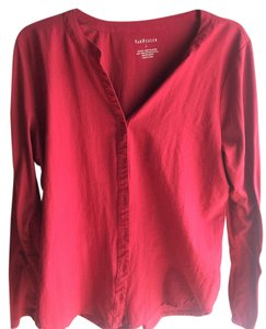 Van Heusen Button Down Shirt Dark Red