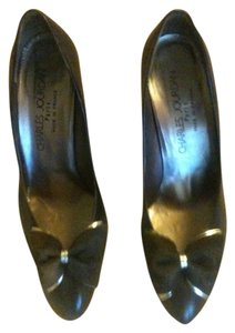 Charles Jourdan Vintage French navy and silver Pumps