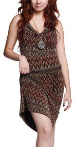 Misope Halter Zig Zag Patterns Dress