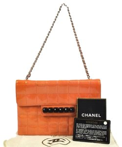 Chanel Paten Patent Leather Leather Shoulder Bag