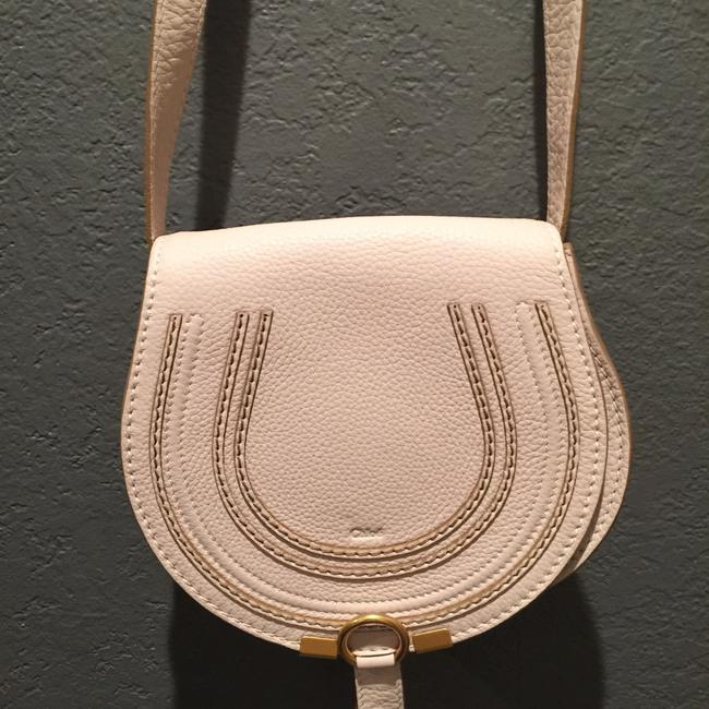Item - Marcie Small Abstract White Leather Cross Body Bag