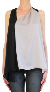 Halston Heritage Top Black and Grey