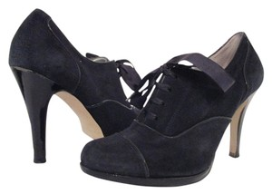 Tahari Suede Laced Black Boots