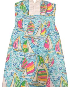 Lilly Pulitzer short dress Blue, pink, white, yellow on Tradesy