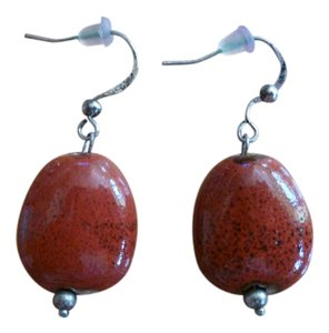 Other Earth-Red Drop Earrings