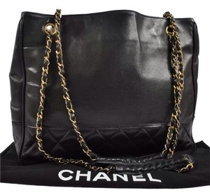 Chanel Monogram Quilted Chain Shoulder Bag