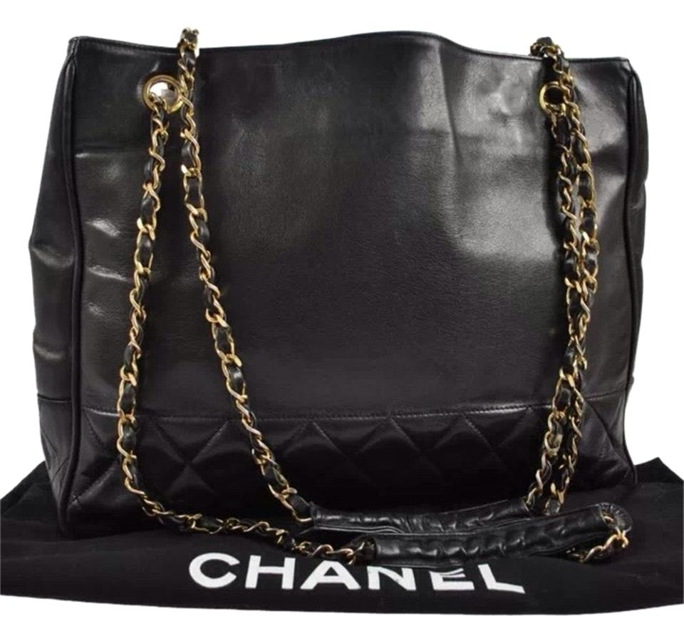 a63a57aa8869 Chanel Lambskin Chain Purse Black Leather Shoulder Bag - Tradesy