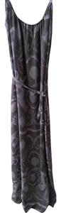 Grey Multi Color Maxi Dress by Tucker Silk Maxi Ikat
