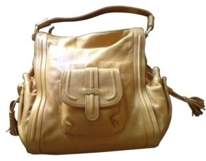 Coldwater Creek Satchel in Gold