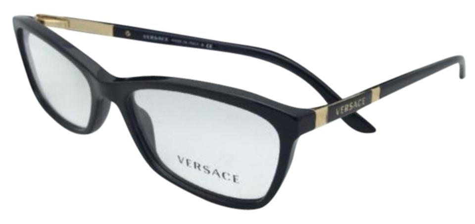 86d76ac0658d Versace New VERSACE Eyeglasses VE 3186 GB1 54-16 Black   Gold Frames Image  0 ...