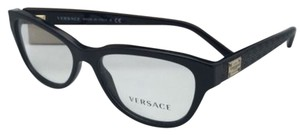 Versace New VERSACE Rx-able Eyeglasses VE 3204 GB1 51-15 140 Black Frames w/ Clear Lenses