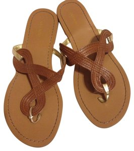 Old Navy Braided Gladiator Brown and Gold Sandals
