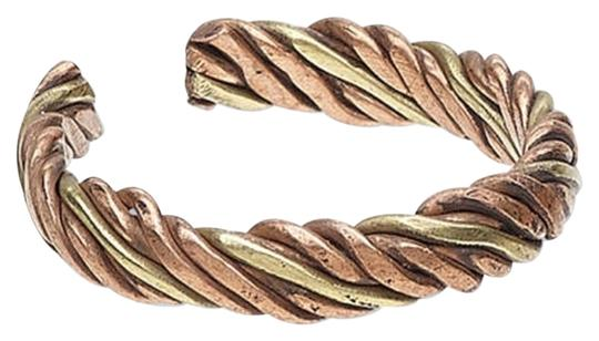 Other NEW India Brass Copper Twisted Mixed Metal 4mm Wide Adjustable Ring