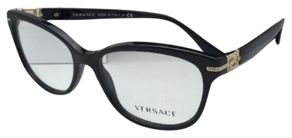 Versace Ve 3205-b Gb1 Black & Gold Frame with Crystals New ...