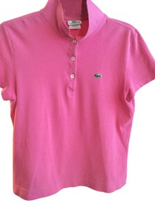 Lacoste Cotton Short Sleeve T Shirt Pink