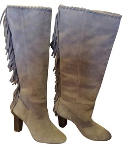 Cosmopolitan Suede Fringe Leather Stone Boots