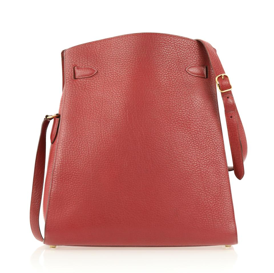 12fc907fa445 Hermès Kelly Clemence Sport Red Leather Shoulder Bag - Tradesy